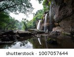 haew suwat waterfall  at khao... | Shutterstock . vector #1007057644