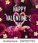 happy valentine's day vector... | Shutterstock .eps vector #1007057794