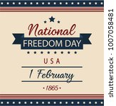 national freedom day usa card... | Shutterstock .eps vector #1007058481
