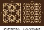 laser cutting set. woodcut...   Shutterstock .eps vector #1007060335