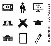 financial history icons set....   Shutterstock .eps vector #1007061115