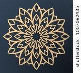 laser cutting mandala. golden... | Shutterstock .eps vector #1007062435