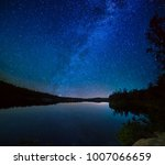 lake at night with amazing... | Shutterstock . vector #1007066659