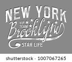 new york brooklyn graphic...   Shutterstock .eps vector #1007067265