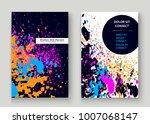 neon explosion paint splatter... | Shutterstock .eps vector #1007068147