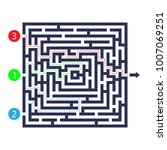 labyrinth game. three entrance  ... | Shutterstock .eps vector #1007069251