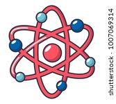 atom logo icon. cartoon... | Shutterstock .eps vector #1007069314