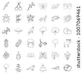 plant icons set. outline style... | Shutterstock .eps vector #1007069461