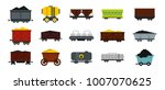 wagon icon set. flat set of... | Shutterstock .eps vector #1007070625