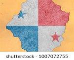 panama flag in big concrete... | Shutterstock . vector #1007072755