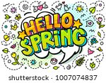 Hello  Spring Word Bubble....