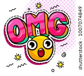 omg in comic speech bubble with ... | Shutterstock .eps vector #1007074849