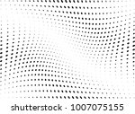 abstract halftone wave dotted... | Shutterstock .eps vector #1007075155
