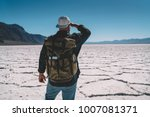 male explorer looking to... | Shutterstock . vector #1007081371