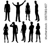 vector silhouettes of men and... | Shutterstock .eps vector #1007081407