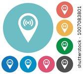 free wifi hotspot flat white... | Shutterstock .eps vector #1007083801