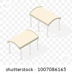 isometric high quality city... | Shutterstock .eps vector #1007086165