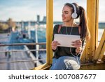 young talented female student... | Shutterstock . vector #1007087677