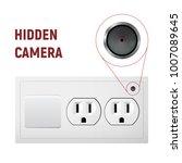 hidden camera in an electrical... | Shutterstock .eps vector #1007089645