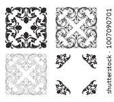 classical baroque vector set of ... | Shutterstock .eps vector #1007090701
