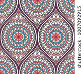 seamless pattern with ethnic... | Shutterstock .eps vector #1007092915