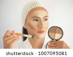 contouring.makeup asian woman...   Shutterstock . vector #1007095081