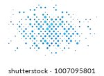 light blue vector pattern with... | Shutterstock .eps vector #1007095801
