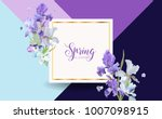 floral bloom spring banner with ... | Shutterstock .eps vector #1007098915
