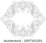 thai art swirl doodle naga head ...   Shutterstock .eps vector #1007101201