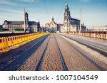 tramway rails in dresden.... | Shutterstock . vector #1007104549
