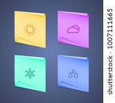 icon weather in the form of a... | Shutterstock .eps vector #1007111665