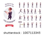 young policewoman  female... | Shutterstock .eps vector #1007113345