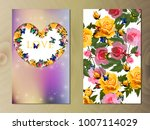 valentines day heart with rose... | Shutterstock .eps vector #1007114029