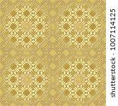 gold metallic regular seamless...   Shutterstock . vector #1007114125