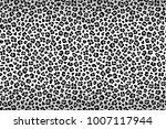 Leopard Texture  Black White...