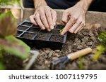 farmer life. gardener planting... | Shutterstock . vector #1007119795