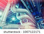 equipment  cables and piping as ... | Shutterstock . vector #1007122171