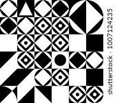 black and white geometric... | Shutterstock .eps vector #1007124235