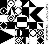 black and white geometric... | Shutterstock .eps vector #1007124241