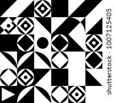 geometric abstract pattern.... | Shutterstock .eps vector #1007125405