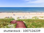 beach on the curonian spit on... | Shutterstock . vector #1007126239