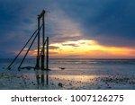 sunset at the beach on heron... | Shutterstock . vector #1007126275