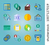 icon set about currency. with... | Shutterstock .eps vector #1007127019