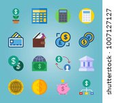icon set about currency. with... | Shutterstock .eps vector #1007127127