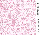 seamless pattern with love... | Shutterstock .eps vector #1007129617