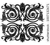vintage baroque ornament ... | Shutterstock .eps vector #1007132671