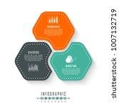 vector circle infographics... | Shutterstock .eps vector #1007132719