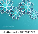 greeting card with intricate... | Shutterstock .eps vector #1007133799