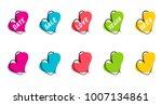 a set of flat speech bubble... | Shutterstock .eps vector #1007134861