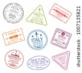 passport stamp or visa signs... | Shutterstock .eps vector #1007135821